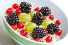 Fruits and oatmeal Royalty Free Stock Images