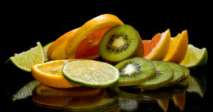 Fruits On Black Royalty Free Stock Images
