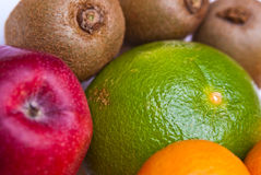 Fruits orange apple kiwi grapefruit Royalty Free Stock Photo