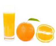 Fruits oranges avec les lames vertes Photo libre de droits