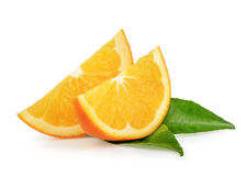 Fruits oranges d'isolement Photographie stock