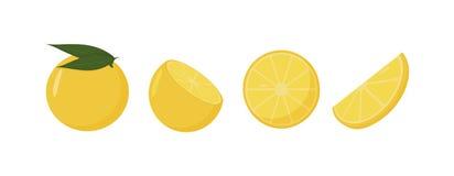 Fruits oranges frais, en état différent, vecteur illustration stock