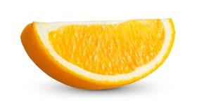 Fruits oranges frais riches avec des vitamines découpées en tranches d'isolement sur le fond blanc Image stock