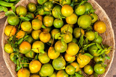 Fruits oranges organiques frais Images libres de droits