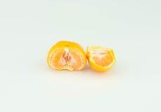 Fruits oranges sur le fond blanc Images stock