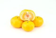 Fruits oranges sur le fond blanc Image stock