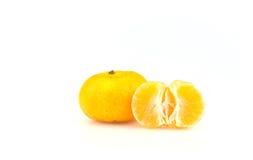 Fruits oranges sur le fond blanc Photos libres de droits