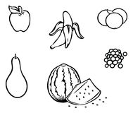 Fruits outline Royalty Free Stock Images