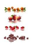 Fruits panels Royalty Free Stock Image