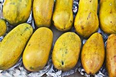 Fruits papaya. Fresh fruits papaya in the market Royalty Free Stock Photography