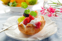 Fruits pastry Royalty Free Stock Images