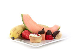 Fruits and pastry Royalty Free Stock Photo