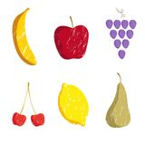 Fruits pattern Royalty Free Stock Photo