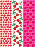 Fruits pattern. Vector illustration of apples and strawberries, pattern Royalty Free Stock Image