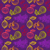 Fruits pattern Royalty Free Stock Photography