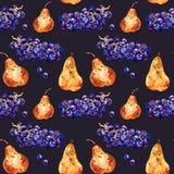 fruits pattern seamless Виноградины и груша E o бесплатная иллюстрация