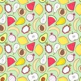 fruits pattern seamless Для кухни, для печатать на тканях, случай телефона Дизайн смешивания для ткани и оформления Иллюстрация штока