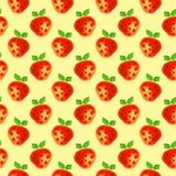 fruits pattern seamless Предпосылка акварели с клубниками нарисованными рукой Иллюстрация штока