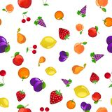 fruits pattern seamless 例证 图库摄影