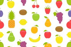 fruits pattern seamless 皇族释放例证