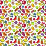fruits pattern seamless 免版税库存照片