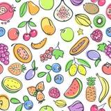 fruits pattern seamless 图库摄影