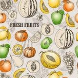 fruits pattern seamless Иллюстрация штока