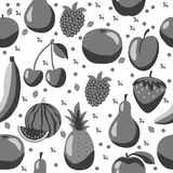 Fruits pattern. Fruits seamless pattern on the white background. Seamless pattern can be used for wallpaper, pattern fills, web page background,surface textures Royalty Free Stock Photos