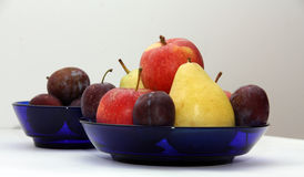 Fruits3. Pear apple plum plate fruit autumn Stock Images