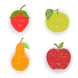 Fruits-pears and apples Royalty Free Stock Images