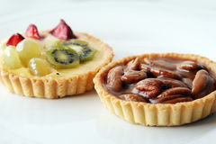 Fruits and pecan tart Royalty Free Stock Photos