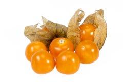 Fruits Physalis  isolated on white background, close up Stock Photos