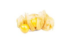 Fruits Physalis Physalis peruviana isolated on white Royalty Free Stock Photography