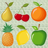 Fruits. Pictures of fruit with transitions from one shade to another Royalty Free Stock Image