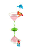 Fruits pink coctail Royalty Free Stock Images