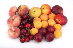 Fruits with pit. Assorted fruits with pit Royalty Free Stock Image