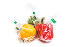 Fruits in plastic bag Royalty Free Stock Photography