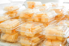 Fruits in plastic containers. Fruits in transparent plastic containers Royalty Free Stock Photo