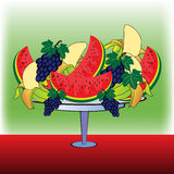 Fruits on a plate Royalty Free Stock Photography