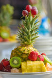 Fruits on plate Royalty Free Stock Photos