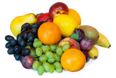 Fruits on a plate Royalty Free Stock Photos