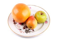 Fruits on a plate Stock Photography