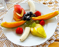 Fruits Plate Stock Photography