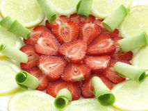 Fruits plate Stock Image