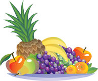 fruits on a plate Stock Images
