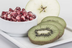 Fruits on plate stock image