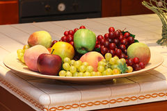 Fruits in plate Stock Photo