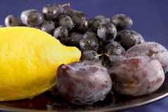 Fruits on the plate Royalty Free Stock Image
