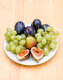 Fruits plate Royalty Free Stock Photography