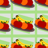 Fruits on plate seamless background design Stock Photography